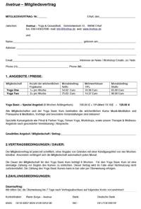 livetrue Mitgliedsvertrag
