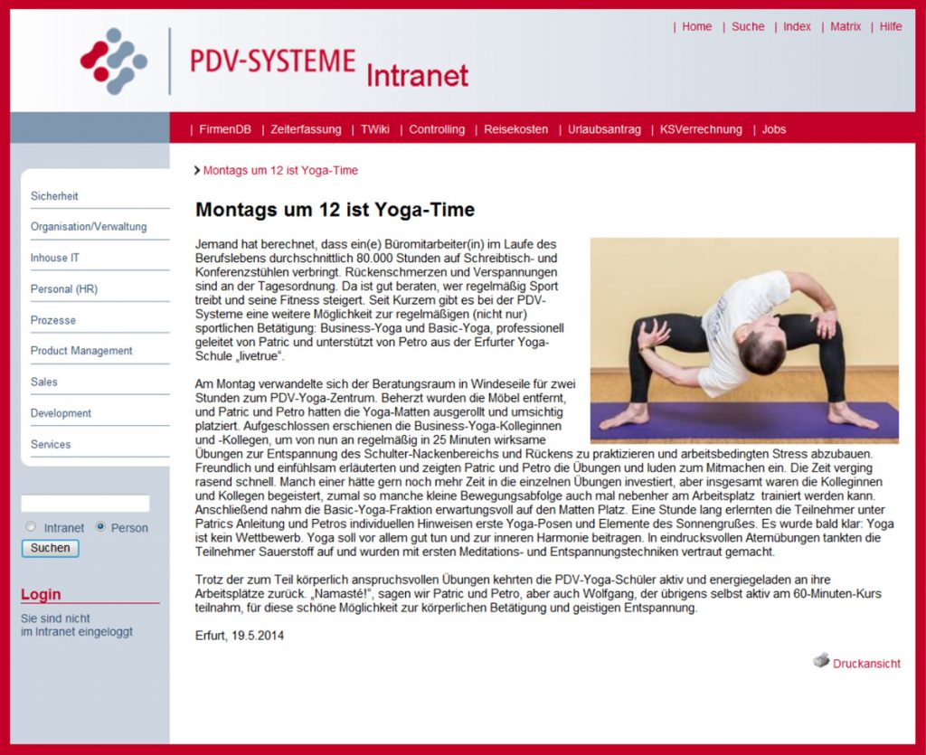 PDV-Systeme Yoga